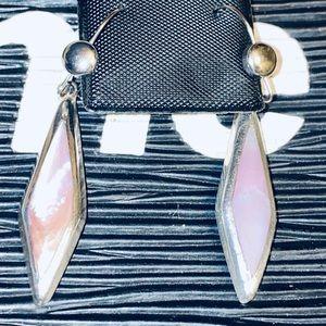 BEAUTIFUL Sterling 20 TCW Pink Opal Earrings!